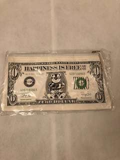 Ground Zero fake money printed faux leather pouch