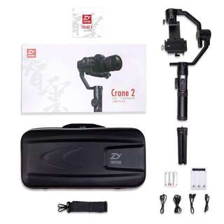 Zhiyun  Crane 2 👏English Ver.📌📌Free delivery to your Mrt location ( Jet Black )📌📌1 year local manufacturer warranty. 🌺Stock Available Now