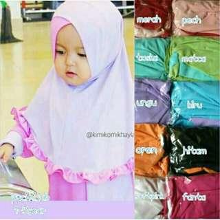 Hijab anak dan daleman hijab 4warna