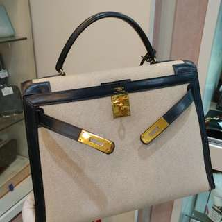 Hermes kelly 32 with canvas
