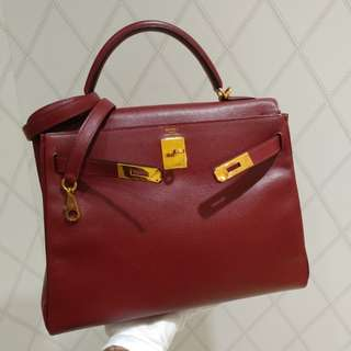 Hermes kelly 32 rough H epsom