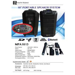 Martin Roland MPA1015 Portable PA Amplifier Speaker