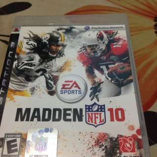 BD PS3 Madden NFL 10 second