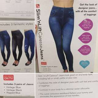 AS SEEN ON TV leggings jeans slim and lift caresse
