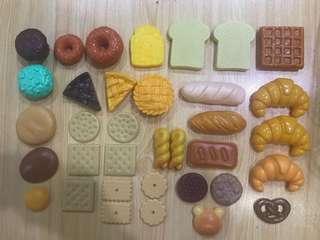 Kitchen Food Bread Cookies Biscuit Toy Set