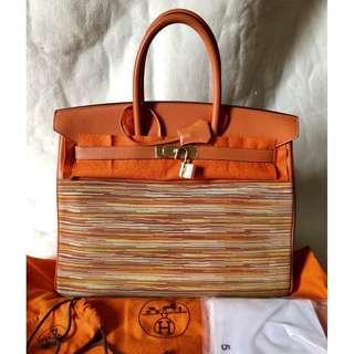 HERMÈS vibrato-togo leather birkin 35 bag
