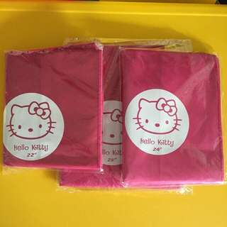 """💞Brand New Hello Kitty Non Woven material thick luggage protector cover💞❗️Avail in 3 sizes 20"""" & 22"""" @ $10, 24"""" @ $11, 28"""" @ $12 😀"""