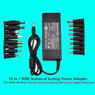 19V 90W Universal Laptop Power Adapter Charger Apple Macbook ASUS HP Acer Toshiba Sony Samsung Dell Lenovo Msi Aftershock Clevo