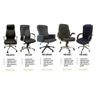 Office Furniture - Partition (( high back chair )) BLACK