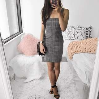 Missguided Checked Bodycon Dress