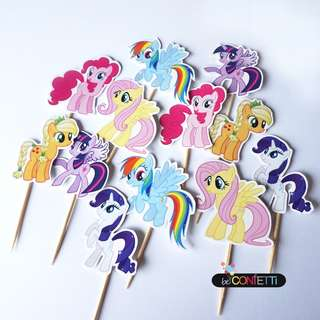 Little Pony Cupcake Topper