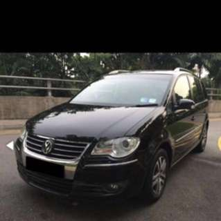 Volkswagen Touran 7 seater MPV for lease (grab/Uber ready)