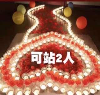 *instocks* LED lights candles for proposal wedding solemnization decorations party
