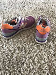 Purple new balance sneakers