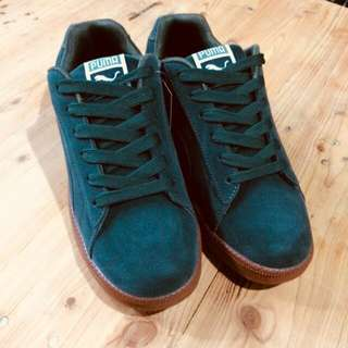 PUMA Suede dark green