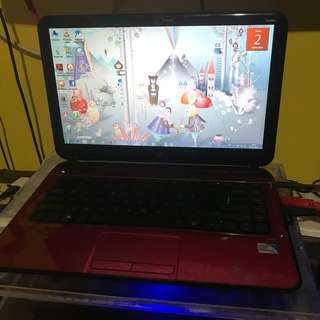 Laptop hp pavililon 14 inch Merah