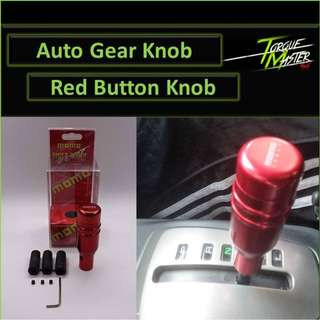 Red Auto Gear Knob with Button . Momo Design . Labour Available.