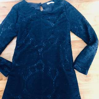 Korean Lace Dress Long Sleeve