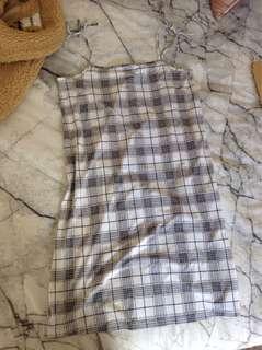 Plaid loose dress 🍒