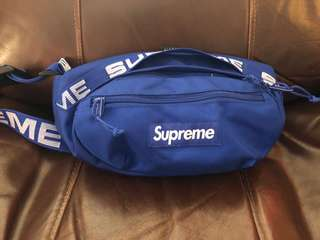 Supreme 44th waist bag blue