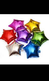 Star foil rainbow balloon