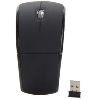 2.4 GHZ Black- Foldable arc wireless optical mouse +usb receiver