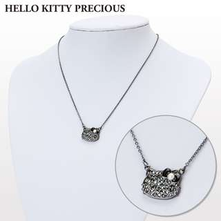 Japan Sanrio Hello Kitty Swarovski (R) Crystal Pendant Black (HELLO KITTY PRECIOUS)