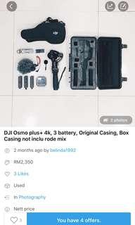 DJI Osmo 4k murah!