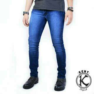Kent long jeans biowash ( navy misty )