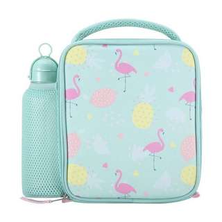Flamingo Lunch Bag in Green from Australia