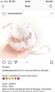 Headband crown pesta