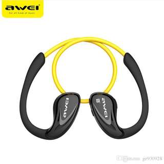 [ORIGINAL]Awei A880BL Wireless Sport Bluetooth V4.0 Earhook Earphone Headphone Headset For Mobile Phone