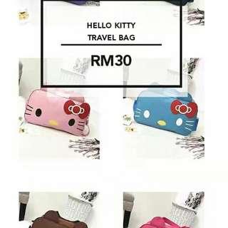 Korean Women's Fashion Hello Kitty Design Casual Large Travel Bag