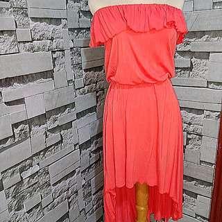 Orange tube dress #maudecay