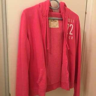 Hollister 女裝桃紅zip-up hoodies