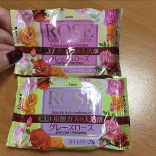 Japan onsen rose medicated bath tablet