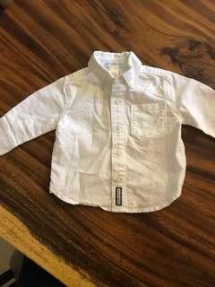 Baby boy long sleeve button down shirt (3-6 Mo)