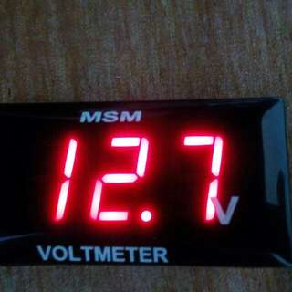 Voltmeter For Cars and Motorcycles