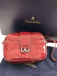 Brooks Brothers Patent crossbody handbag