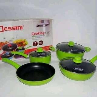 Dessini Panci Cooking Set 7pcs Cookware Murah Lixe Maxim Oxone