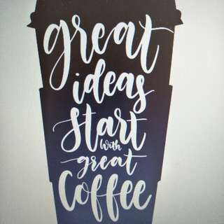 Great ideas start with great coffee