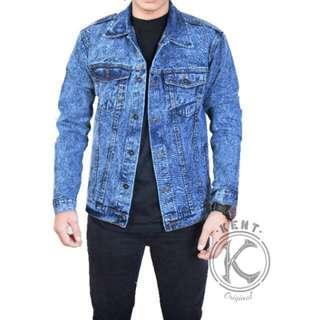 Kent jaket jeans sandwash blue
