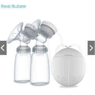 Real Bubee Double USB Electric Breast Pump with Milk Bottle