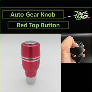 Red Auto Gear Knob with top Button . Momo Design . Labour Available.