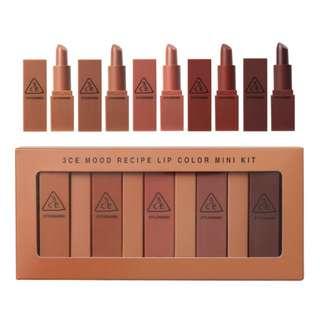 3CE Mini Lipstick Set