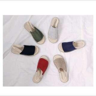 🚚 Hotping編織感釦帶涼鞋 韓國網拍直送 40號 近全新✨
