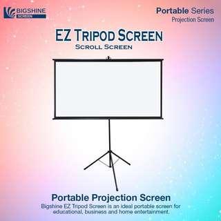 [BIGSHINE] 80 Inch EZ Tripod Projector Screen