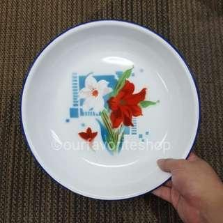Vintage Enamel Bowl Plate