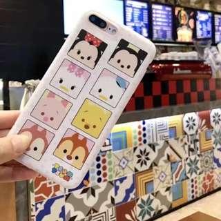 手機殼IPhone6/7/8/plus(沒有X) : 可愛Q版頭像全包磨砂軟殼