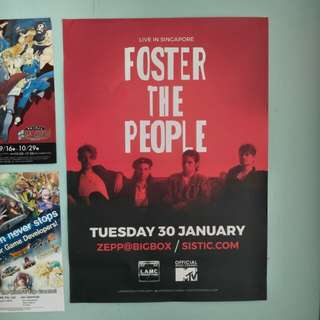 Foster the People SG 2018 A2 Poster